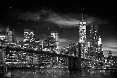 NEW YORK CITY - FREEDOM TOWER - POSTER - 24x36 MANHATTAN NIGHT NYC 34017