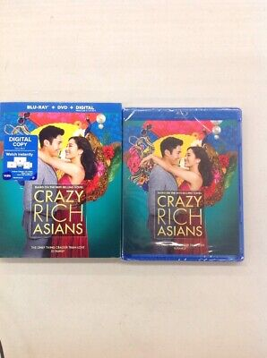 Crazy Rich Asians (Blu-ray + DVD + Digital Combo Pk) w/ SLIP COVER **FREE SHIP**
