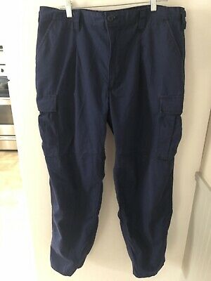 USCG US Coast Guard ODU Cargo Ripstop Blue Pants Large Reg Trousers Uniform
