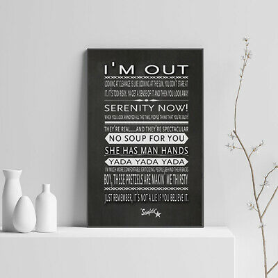 Seinfeld, Famous Quotes, Art, Print, Posters, Home Decor, Word Art