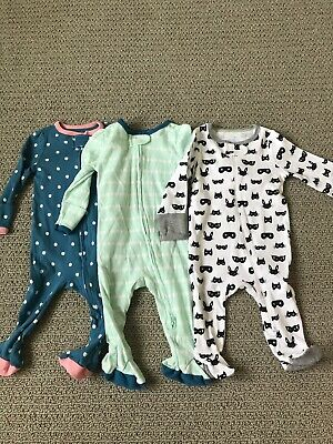 cf066b244 Baby Girl Sleepers Sleep Sack Lot Of 5 Sleep Outfits Newborn 0 3mo