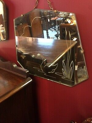 1930's Original Art Deco Swan Mirror