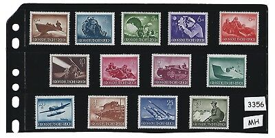 #3356 MH Stamp set / Third Reich / Nazi Germany / Military / Armed forces / 1944