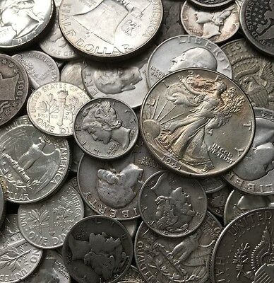 $2 Face Value - 90% Silver U.S. Coins - Dimes/Quarters/Halves