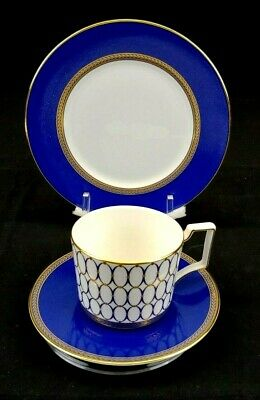 WEDGEWOOD Renaissance Gold Fine Bone China, 3pc Set, Salad, Cup and Saucer, New