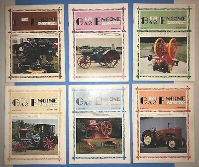"1983 Volume 18 ""THE GAS ENGINE MAGAZINE"" 6 BACK ISSUE Hit Miss Vintage Full Year"