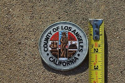 "New County of Los Angeles California 3"" Round Embroidered Patch City"