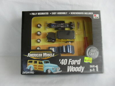2000 Ertl American Muscle 1940 Ford Woody 1:64 Scale Die Cast Model Kit NIB