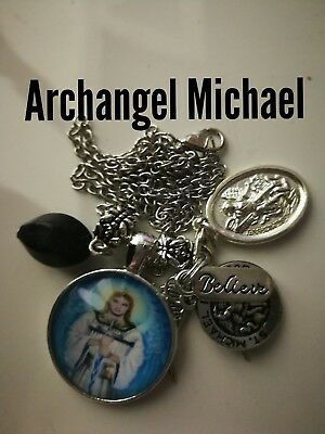 Code 386 Archangel Michael Infused Spiritual necklace Wrap me up Guardian Angel