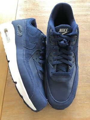 newest a23e2 260a5 Nike Air Max 90 Ultra 2.0 Ltr Mens (924447-400) Navy Blue Running