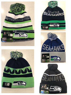 New Era NFL Seattle Seahawks winter Pom beanie hat sport knit cap brand new 485479147257
