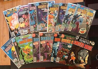 Lot of 17 Secrets of Haunted House DC Vintage Comic Books! #9, #10, Sinister #13