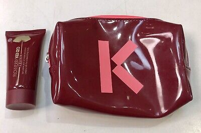 59193ee3f KENZO RED COSMETIC Bag With Lot Of 3 Crystal Perfume Small Bottle ...