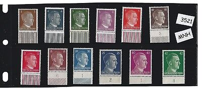 #3522  MNH stamp set / Adolph Hitler / Third Reich / Nazi Germany / FREE HOLDER!
