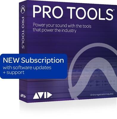 Avid Pro Tools 2018 with 1-Year of Updates + Support Plan 1-Year Subscription (d