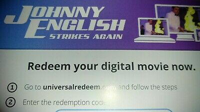 Johnny English Strikes Again HD Digital Movies Anywhere. No discs.Code Only
