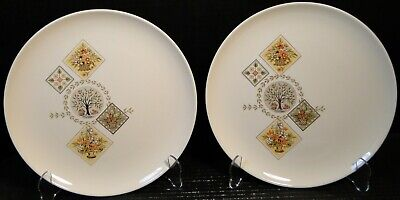 Taylor Smith Taylor Brocatelle Dinner Plates 10 1/4 Ever Yours Set 2 EXCELLENT