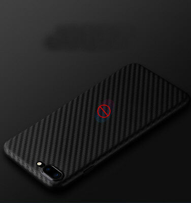 Ultra Slim Carbon Fiber Rubber Soft TPU Case Cover Black for iPhone X 6 7 8 Plus