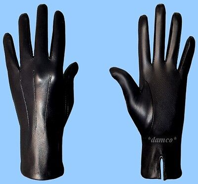 NEW MENS size 8.5 UNLINED BLACK GENUINE KID LEATHER DRESS GLOVES