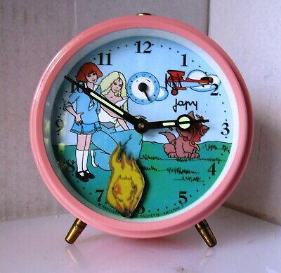 Rare Animated Clementine Pink Alarm Clock from JAPY