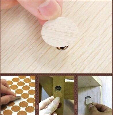 Creative Self Adhesive Screw Cap Covers Furniture Wood Craft Desk Cabinet Draw