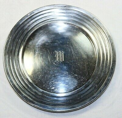 Antique Ovington 076 Solid Sterling Silver 6 Inch Dish / Plate w Mono 91.1 grams