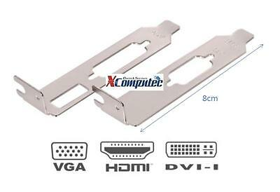 Low Profile bracket, DVI HDMI / VGA for LP compatible Video cards, for SFF case