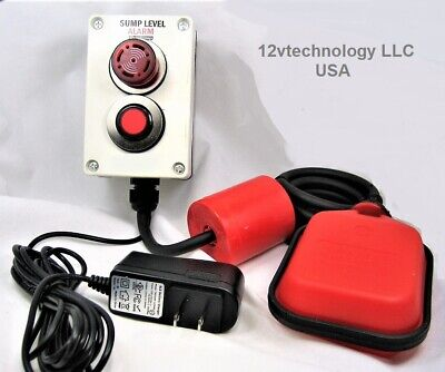 Indoor Outdoor SUMP PUMP ALARM w/Mute Button 110 / 220 VAC Well Overflow, Sewage