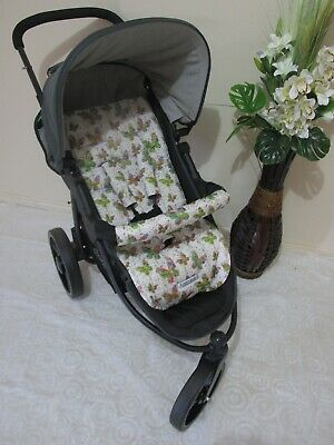 Pram liner set,universal,100% cotton fabric-Butterflies-Funky babyz.SALE*