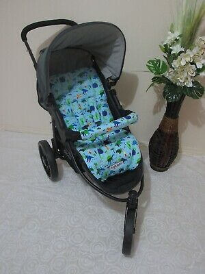 Pram liner set,universal,100% cotton fabric-Dinosaur land-Funky babyz,SALE*
