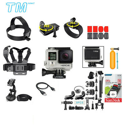 GoPro HERO 4 Black Edition Action Camera + 40 PCS Accessory Kit + 16GB Micro SD