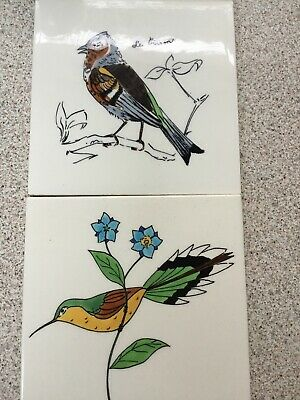 Vintage Bird Picture Wall Tiles