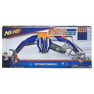Kids Toy Nerf N-Strike Bow StratoBow Simulate Arrow Product 15 Darts Fun Gift