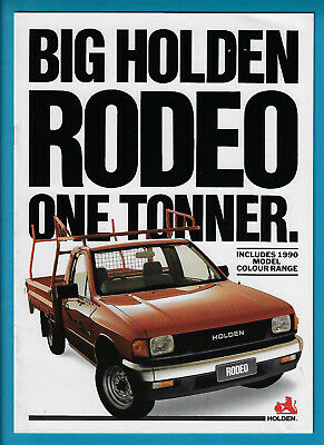 HOLDEN RODEO ONE-TONNERS col sales literature - $11 99