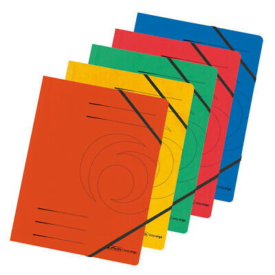 Herlitz 10902872  box file Blue,Green,Orange,Red,Yellow Carton Eckspanner