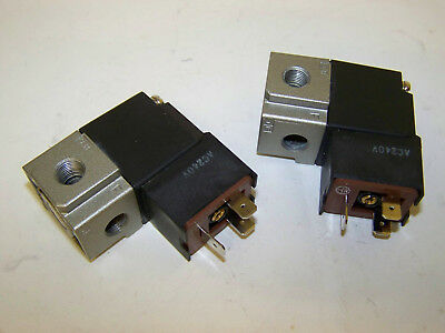 LOT of 2 * SMC AC240V Solenoid Valve 3 PORT 1P 2A 3R