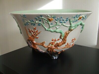 Clarice Cliff Indian Tree / Cherry Tree Large Footed Bowl 'my Garden Series' 988