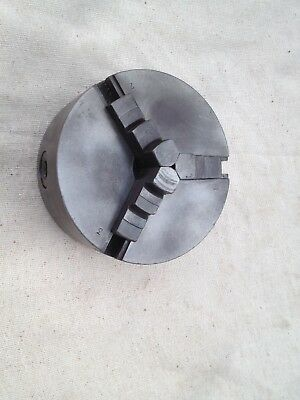 """4"""" metal lathe chuck used condition"""