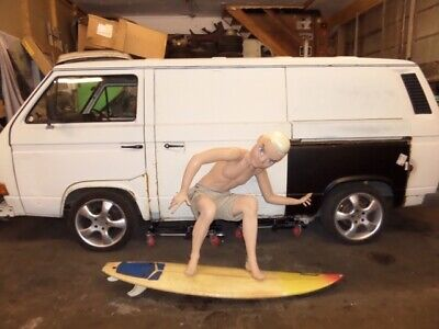 Mannequin surfer with surf board man cave quick silver animal vw beetle bug bmw