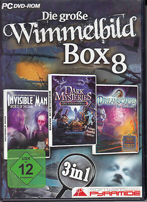 Die große Wimmelbild Box 8 - INVISIBLE MAN - DARK MYSTERIES - DREAMSCAPES