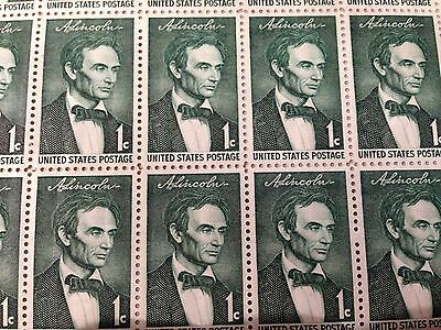 1959 - BEARDLESS LINCOLN - #1113 Full Mint -MNH- Sheet of 50 Postage Stamps