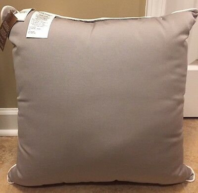 """NEW Pottery Barn Sunbrella Contrast Piped Outdoor 13/"""" x 21/"""" Pillow RED"""