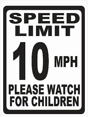 Speed Limit 10 MPH Sign Please Watch for Children. Size Options. Slow Down