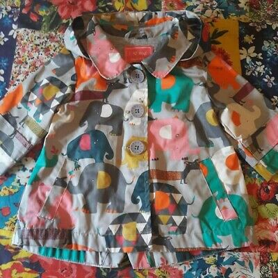 Next 3-6 Girls Elephant Print Raincoat Jacket Lined Hooded