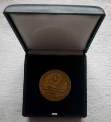 Orig.participant medal   Ice Hockey World Championship GERMANY 1975 / in Box  !!