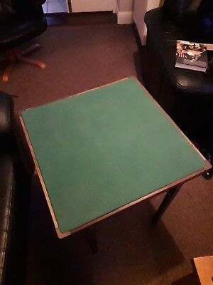 Vintage green top folding card table