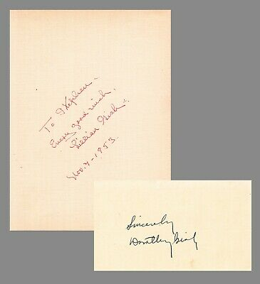 LILLIAN GISH & DOROTHY GISH. Signatures of each actress of stage & screen 1912+