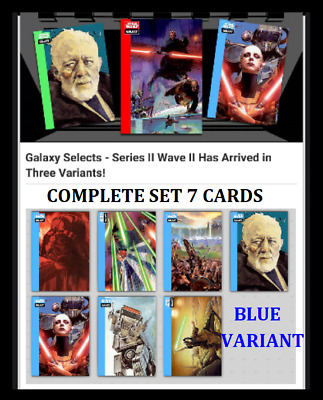 Topps Star Wars Card Trader Galaxy Selects Series 2 Wave 2 [Set 7 Cards] Blue
