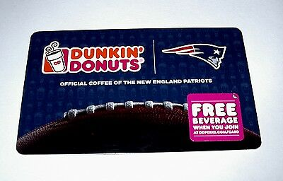 Dunkin Donuts Boston New England Patriots  Gift Cards New No Value