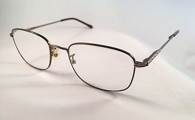 VTG. SAFILO ELASTA Bronze Brown Eyeglasses 145 Made in Italy RX for Parts Only
